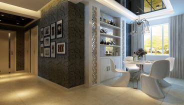 万达小区现代简约三室二厅装修效果图
