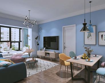 保利温泉新城北欧二室一厅装修效果图