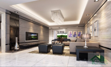 泰禾红裕115平三室二厅装修效果图