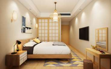 保利西江林语29#505日式卧室效果图