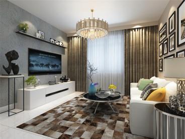 华润橡树湾现代简约客厅效果图