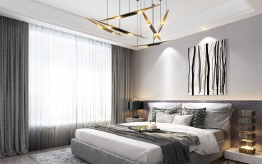 世欧上江城欧式古典卧室效果图