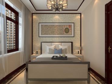 孔雀城现代简约卧室效果图