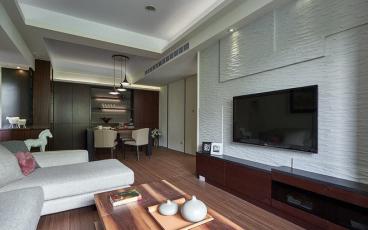 世茂都二室二厅现代简约装修效果图