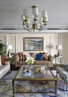 香缇半岛时尚混搭三室一厅装修效果图