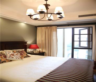 海塘小区美式卧室效果图