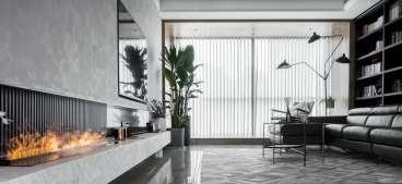 天地源曲江香都现代简约四室二厅装修效果图