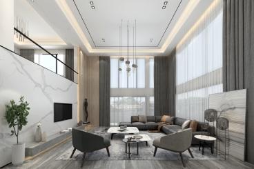 金椅豪园东江岸五室二厅现代简约装修效果图