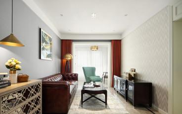 钟麓花园美式二室一厅装修效果图