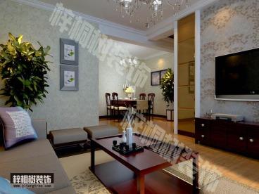 恒大帝景全包三室二厅装修效果图