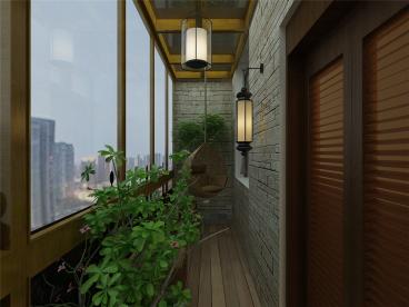 吉林里欧式古典阳台效果图