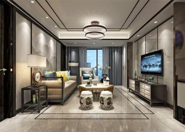 长能明珠新中式四室二厅装修效果图