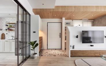 雁滩家园二室二厅北欧装修效果图