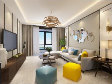 力高阳光海岸三室二厅现代简约装修效果图