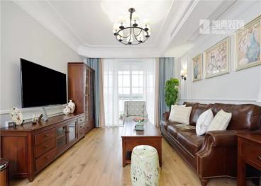 鸿信清新家园115平三室二厅装修效果图