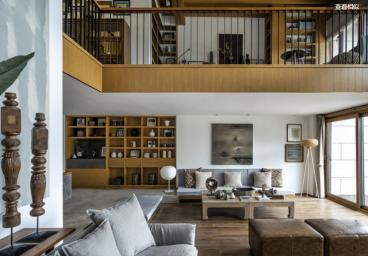 绿洲家园别墅现代简约三室三厅装修效果图
