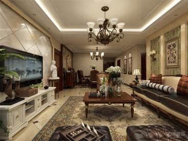 天津津南新城半包三室二厅装修效果图