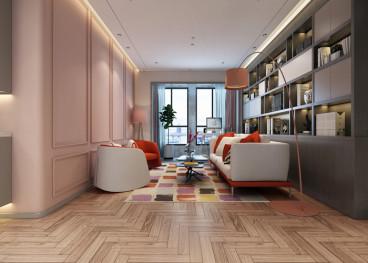 海马公园三室二厅现代简约装修效果图
