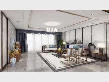 梅溪湖壹号新中式五室二厅装修效果图