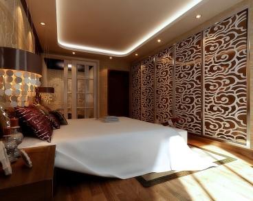 鳳凰城中式臥室效果圖