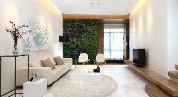 燕城苑小区90平二室一厅装修效果图