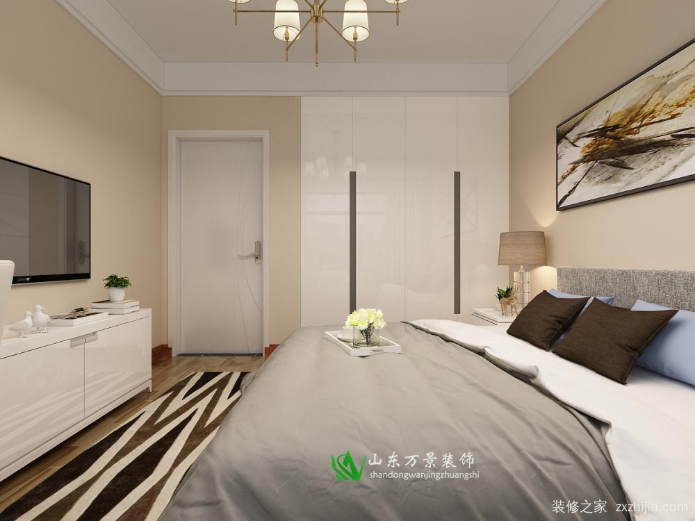 绿地城现代简约二室二厅装修效果图