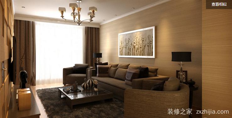 阳光城大都会现代简约客厅效果图