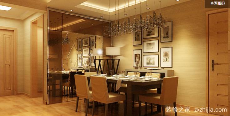 阳光城大都会现代简约餐厅效果图