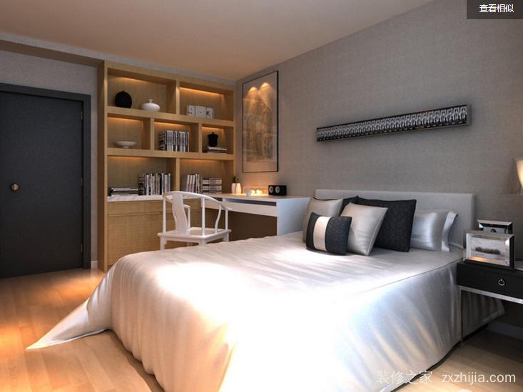 阳光城大都会现代简约卧室效果图