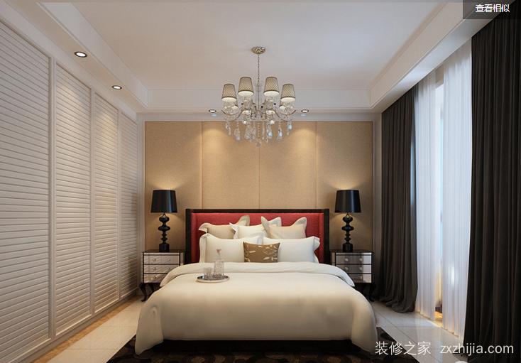 双湖新城现代简约卧室效果图