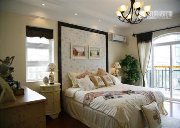 紫庐花园恬淡田园卧室效果图