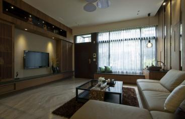 同人山庄新中式二室一厅装修效果图