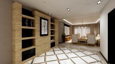 文景嘉苑半包三室二厅装修效果图