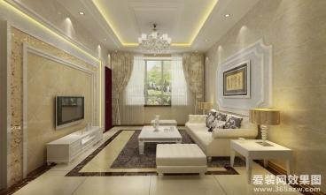 美好易居城时尚混搭三室二厅装修效果图
