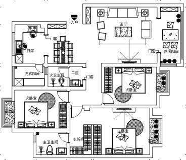 颐明园三室二厅现代简约装修效果图