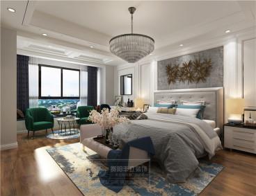 美的林城時代后現代臥室效果圖