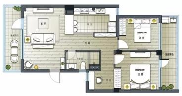 田园牧歌二室二厅全包装修效果图
