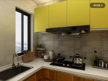 中央公园新中式厨房效果图