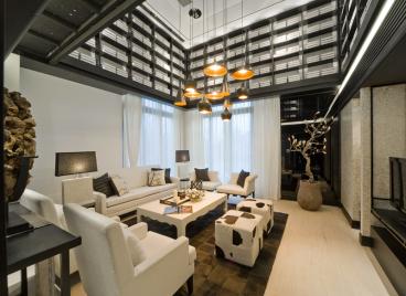 九五国际大厦1000平三室二厅装修效果图