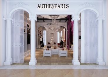法國品牌服裝專賣店新古典客廳效果圖