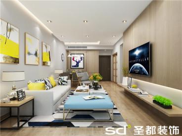 天珑广场91平二室二厅装修效果图