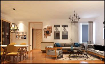 汇源华庭北欧三室二厅装修效果图