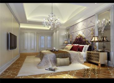 三利宅院后现代卧室效果图