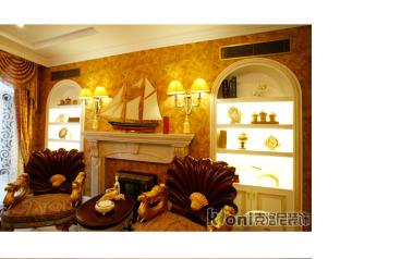 中南海棠湾新古典客厅效果图