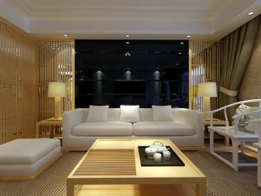 复地优尚国际三室二厅中式装修效果图