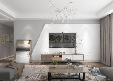 安粮城市中心120平三室二厅装修效果图