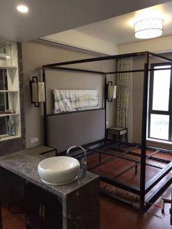 海航豪庭新中式卧室效果图
