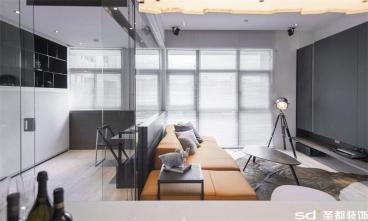 恒大银海湖港式三室二厅装修效果图