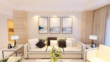 无锡碧桂园现代简约三室二厅装修效果图