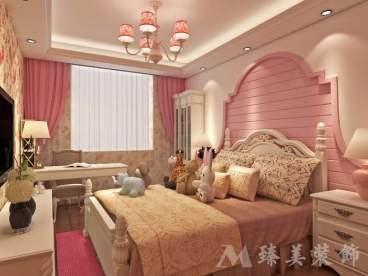 九州新世界美式三室二厅装修效果图